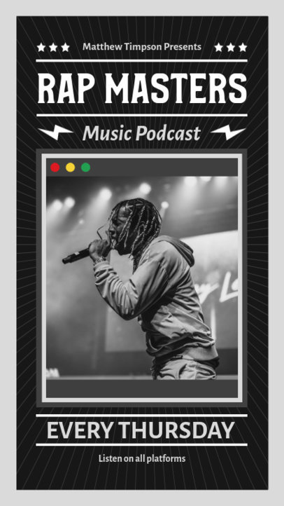 Instagram Story Template For a Hip-Hop Podcast 1368c-el1