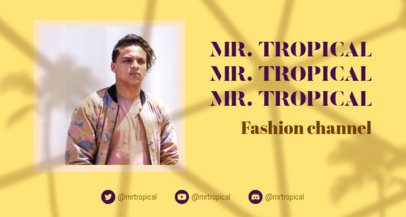 Cool Twitch Banner Generator for Fashion Channels 2524g