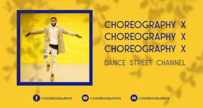 Twitch Banner Template for a Dance and Choreography Streaming Channel 2524i