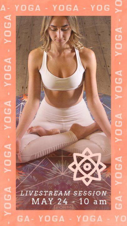 Instagram Story Maker for Online Yoga Lessons 2516b