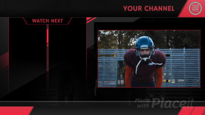YouTube End Card Video Creator for a Football Channel 1686-el1