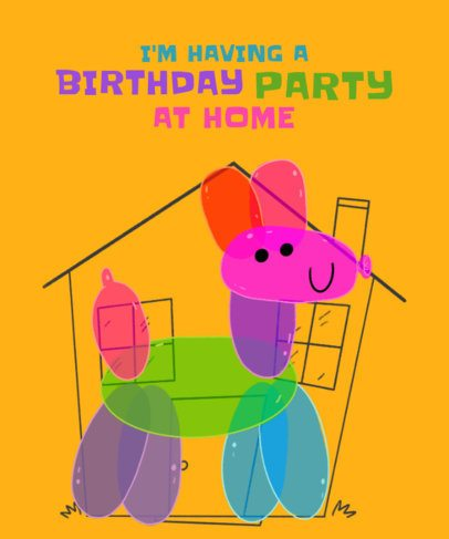 T-Shirt Design Template for a Child's Birthday Party 2528g