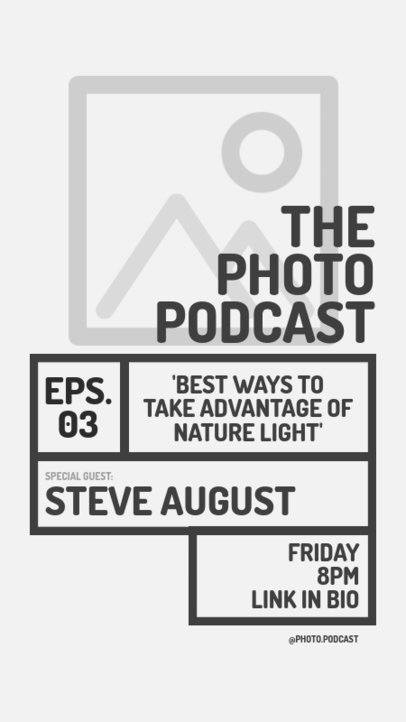 Flyer Generator for a Photography Podcast 1407b-el1