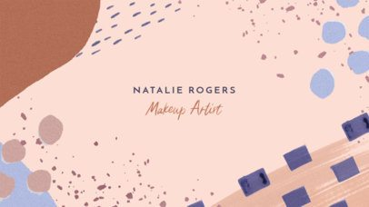 YouTube Banner Maker for a Makeup Artist with a Pastel Color Palette 2520e