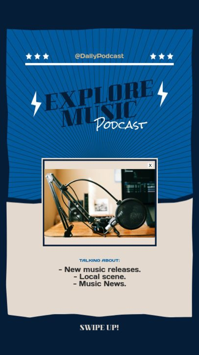 Minimalist Instagram Story Maker for a Podcast About Music 1410a-el1