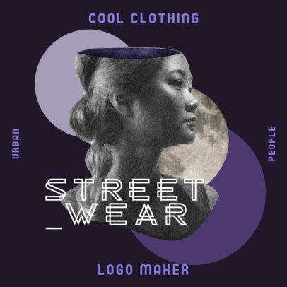 Streetwear Logo Generator Featuring a Bizarre Collage-Style Graphic 3256h