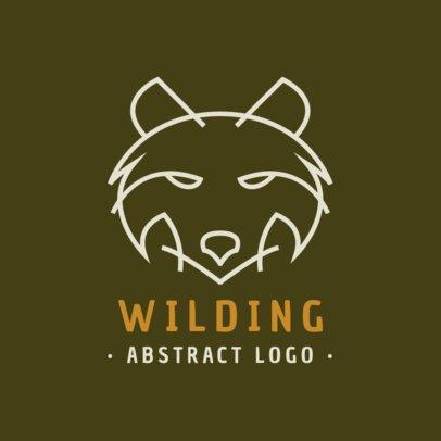 Minimal Logo Maker With a Wild Wolf Outline 1394c-el1