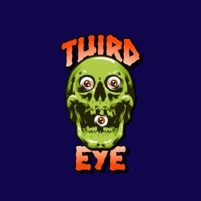 Streetwear Logo Creator with a Creepy Skull Graphic 3266b