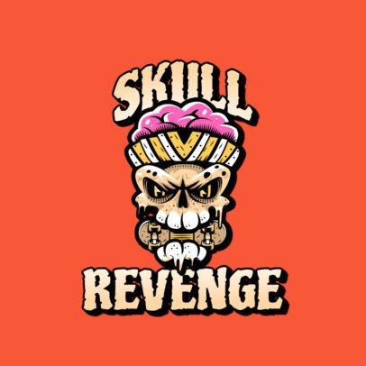 Streetwear Logo Creator with a Santa Cruz-Inspired Skull 3266a