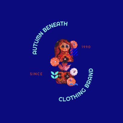 Clothing Brand Logo Generator with a Matryoshka Doll Collage 3257b
