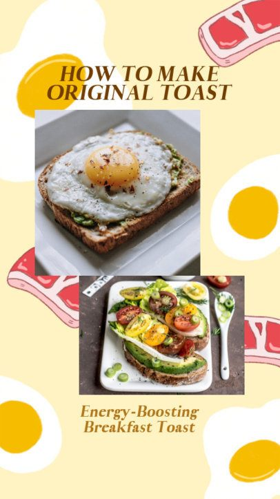 Instagram Story Design Template for a Toast Recipe 2525l