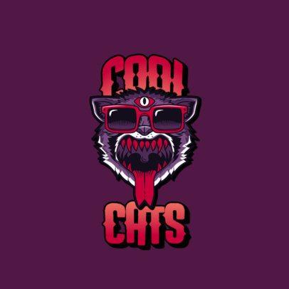 Santa Cruz-Inspired Logo Maker with a Weird Cat Illustration 3266g