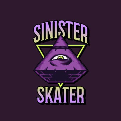 Streetwear Logo Maker with a Sinister Graphic of a Looking Eye 3266k