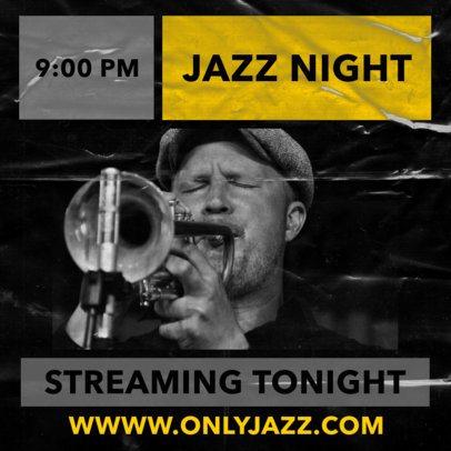 Facebook Post Maker for a Jazz Concert 2518a