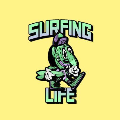 Cartoonish Logo Creator Featuring a Skater Troll 3266x