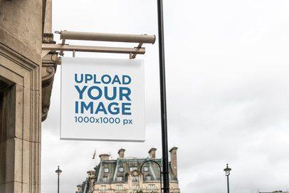 Sign Mockup Featuring European Buildings 4116-el1