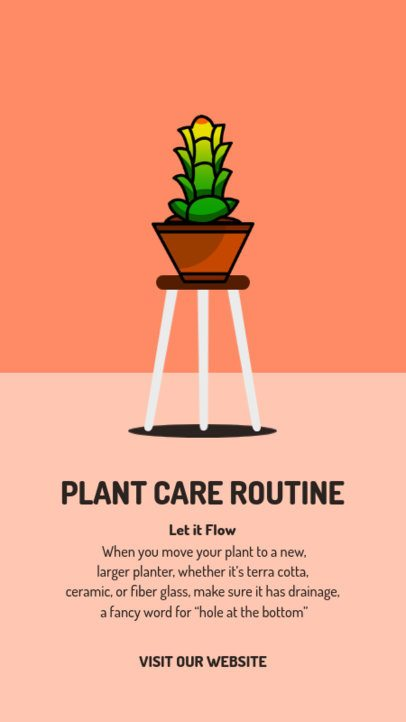 Cool Instagram Story Creator for a Plant Care Routine 1465c-el1