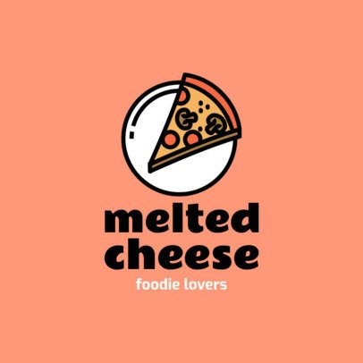 Food Logo Maker with a Simple Graphic of a Slice of Pizza 1490b-el1