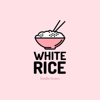 Restaurant Logo Maker Featuring a Bowl of White Rice 1490c-el1