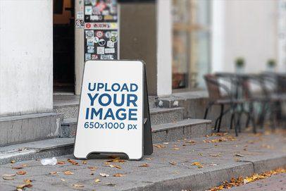 Mockup of a Restaurant's Outdoor Sign 4125-el1