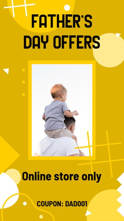 Instagram Story Template for a Father's Day Online Offer 2544b