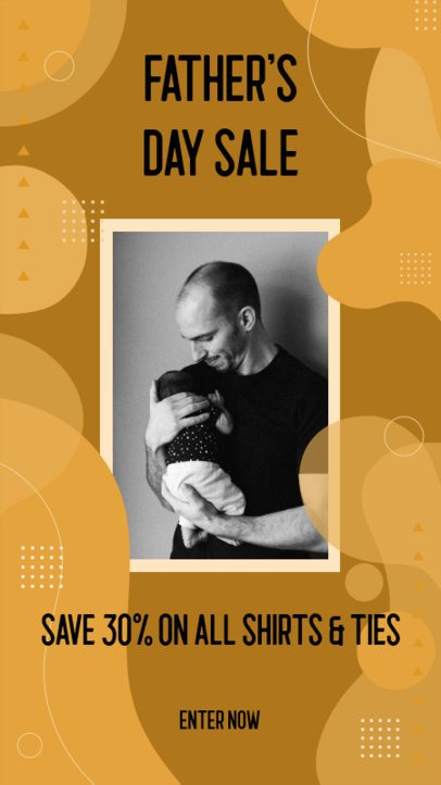 Instagram Story Design Generator for a Father's Day Special Sale 2544d