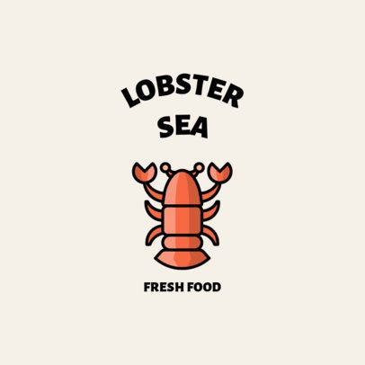 Logo Template for a Seafood Restaurant with a Lobster Icon 1491d-el1