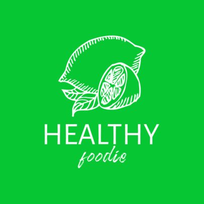 Minimalist Logo Maker for a Healthy Food Place with a Lime Graphic 1534c-el1