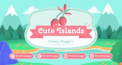 Twitch Banner Creator with a Cherry Graphic Inspired by Animal Crossing 2542d