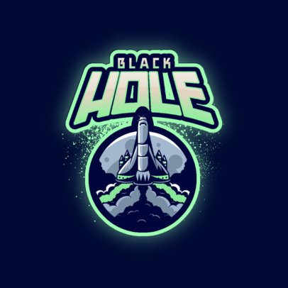 Gaming Logo Generator with the Graphic of a Flying Space Rocket 3274h