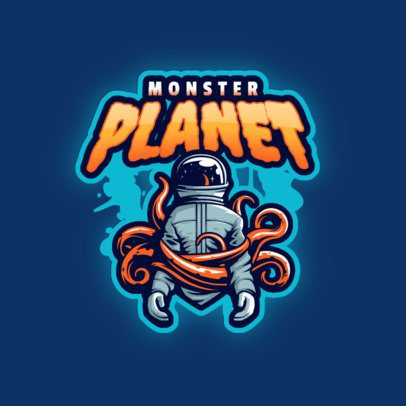 Online Logo Maker Featuring a Monster with an Astronaut Helmet 3274n