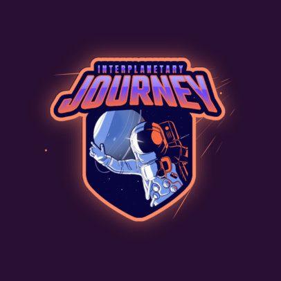 Emblem Logo Maker Featuring an Astronaut 3274b