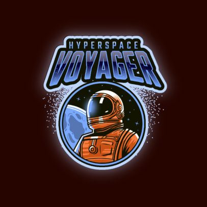 Gaming Logo Creator Featuring an Astronaut from Hyperspace 3274h