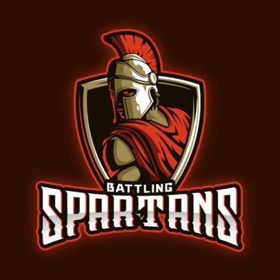 Gaming Logo Master Featuring Spartan Warrior Graphics 3297
