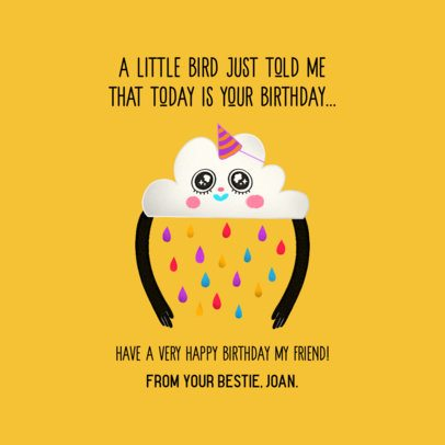 Facebook Post Maker Featuring Funny Characters with Birthday Wishes 2551