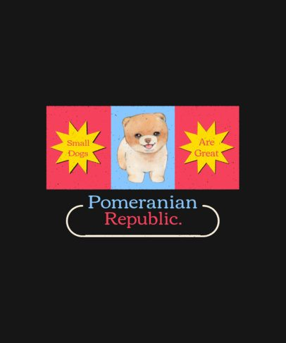 T-Shirt Design Template Featuring Flags with Illustrations of Dogs 1521-el1