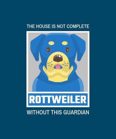 Pets T-Shirt Design Generator Featuring a Guardian Dog 1552c-el1
