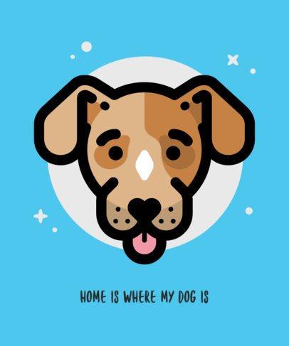 T-Shirt Design Maker Featuring Smiling Puppy Graphics 1546-el1