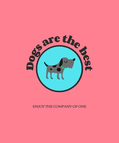 T-Shirt Design Creator Featuring Cute Dog 1540a-el1