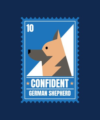 T-Shirt Design Maker Featuring Postal Stamps with Dog Graphics 1519-el1