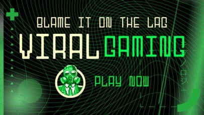 Facebook Thumbnail for a Gaming Channel Featuring a Futuristic Background 2561h