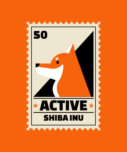 T-Shirt Design Maker Featuring a Shiba Inu Illustration 1519c-el1