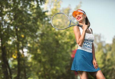 Tank Top Mockup of a Woman with a Tennis Racket 34371-r-el2