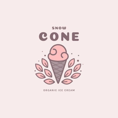 Logo Template for an Organic Ice Cream Store 1698b-el1