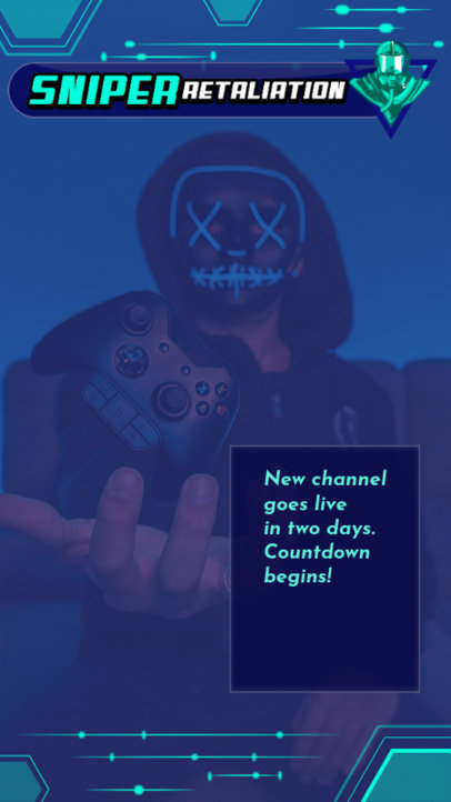 Facebook Story Maker Featuring a Masked Gamer with a Controller 2558g