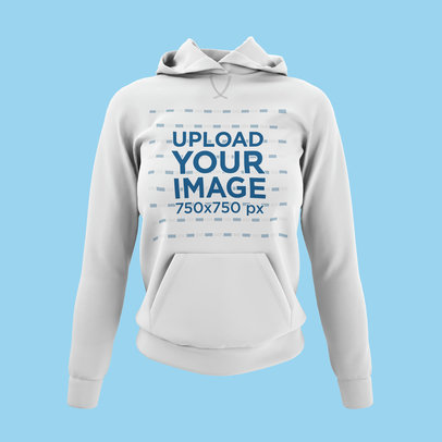 Front View Mockup of a Women's Ghosted Hoodie 4434-el1