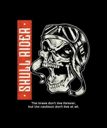 Biker Clubs T-Shirt Design Creator Featuring Mad Skulls 1720-el1