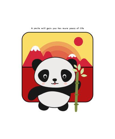 T-Shirt Design Maker Featuring Cute Panda Cartoons 1703-el1