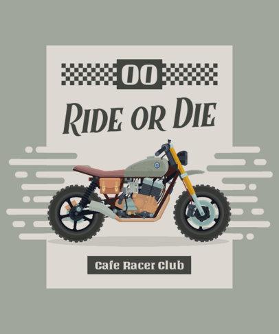 Online T-Shirt Design Maker for Cafe Racer Motorcycle Fanatics 1716a-el1