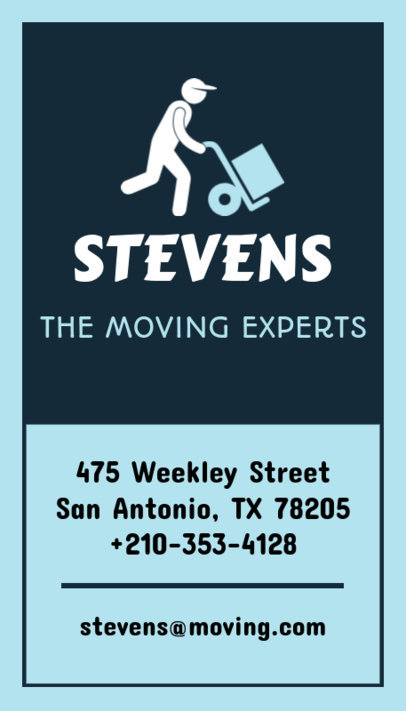 Business Card Creator for Moving Experts 554b
